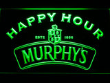 Murphy's Happy Hour LED Neon Sign - Green - SafeSpecial