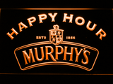 Murphy's Happy Hour LED Neon Sign - Orange - SafeSpecial