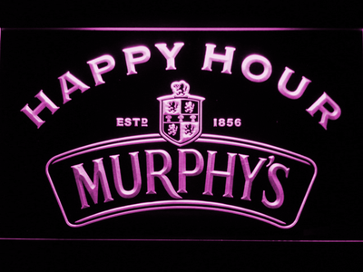 Murphy's Happy Hour LED Neon Sign - Purple - SafeSpecial