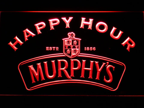 Murphy's Happy Hour LED Neon Sign - Red - SafeSpecial