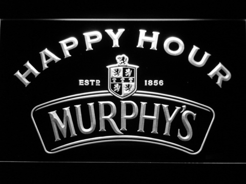 Murphy's Happy Hour LED Neon Sign - White - SafeSpecial