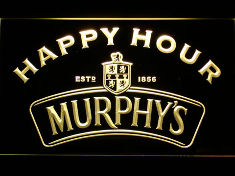Murphy's Happy Hour LED Neon Sign - Yellow - SafeSpecial