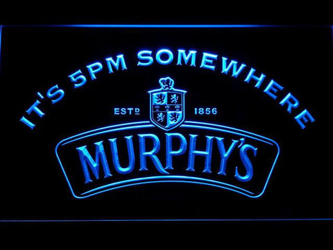 Murphy's It's 5pm Somewhere LED Neon Sign - Blue - SafeSpecial