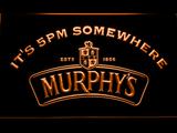 Murphy's It's 5pm Somewhere LED Neon Sign - Orange - SafeSpecial