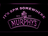 Murphy's It's 5pm Somewhere LED Neon Sign - Purple - SafeSpecial