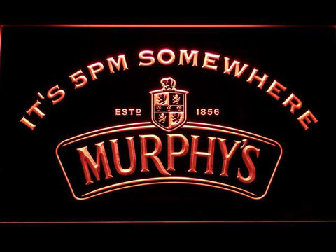 Murphy's It's 5pm Somewhere LED Neon Sign - Red - SafeSpecial