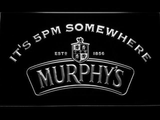Murphy's It's 5pm Somewhere LED Neon Sign - White - SafeSpecial