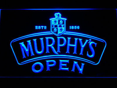 Murphy's Open LED Neon Sign - Blue - SafeSpecial