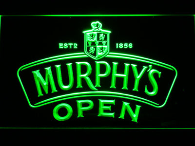 Murphy's Open LED Neon Sign - Green - SafeSpecial