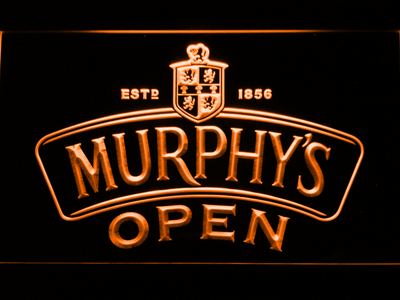 Murphy's Open LED Neon Sign - Orange - SafeSpecial