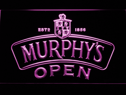 Image of Murphy's Open LED Neon Sign - Purple - SafeSpecial