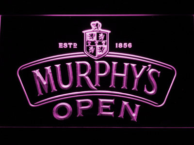 Murphy's Open LED Neon Sign - Purple - SafeSpecial