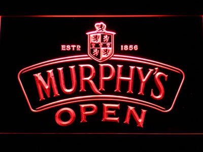 Murphy's Open LED Neon Sign - Red - SafeSpecial