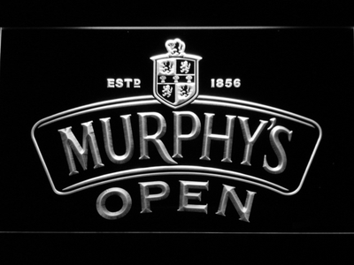 Murphy's Open LED Neon Sign - White - SafeSpecial