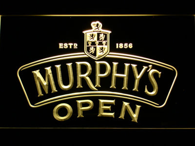 Murphy's Open LED Neon Sign - Yellow - SafeSpecial