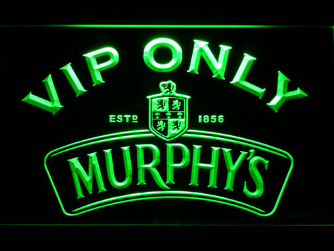 Murphy's VIP Only LED Neon Sign - Green - SafeSpecial
