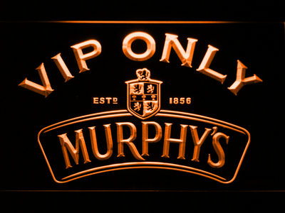 Murphy's VIP Only LED Neon Sign - Orange - SafeSpecial