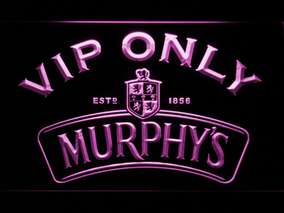 Murphy's VIP Only LED Neon Sign - Purple - SafeSpecial