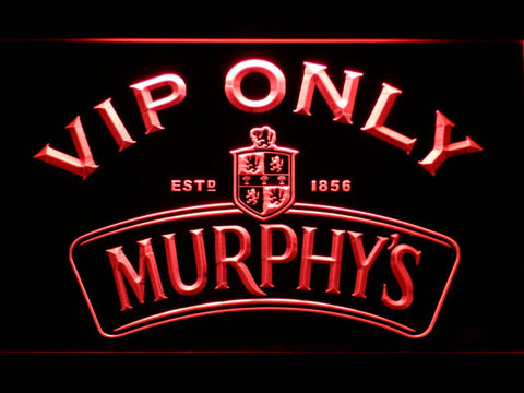 Murphy's VIP Only LED Neon Sign - Red - SafeSpecial