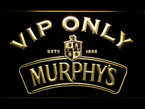 Murphy's VIP Only LED Neon Sign - Yellow - SafeSpecial