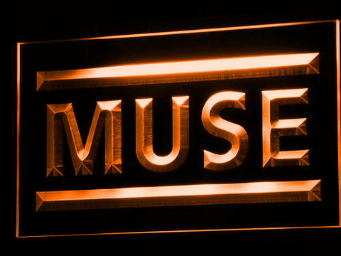 Muse LED Neon Sign - Orange - SafeSpecial