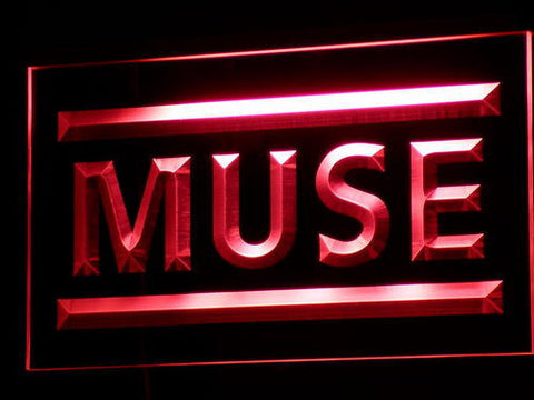 Muse LED Neon Sign - Red - SafeSpecial