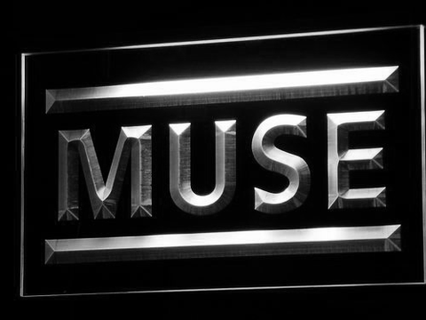 Muse LED Neon Sign - White - SafeSpecial