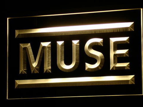 Muse LED Neon Sign - Yellow - SafeSpecial