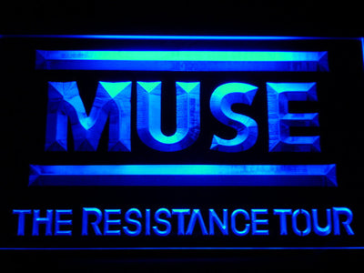 Muse The Resistance Tour LED Neon Sign - Blue - SafeSpecial