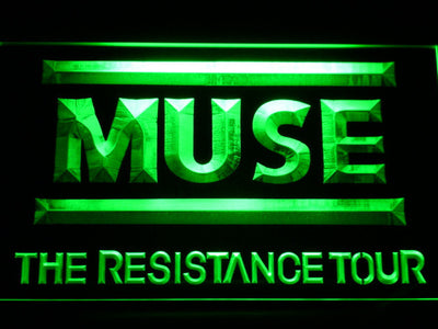 Muse The Resistance Tour LED Neon Sign - Green - SafeSpecial