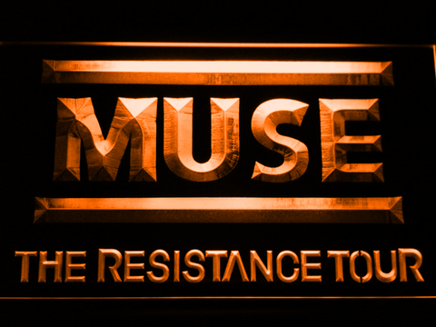 Image of Muse The Resistance Tour LED Neon Sign - Orange - SafeSpecial