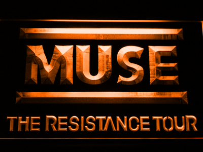 Muse The Resistance Tour LED Neon Sign - Orange - SafeSpecial