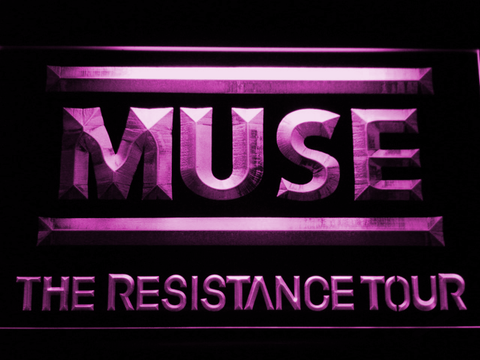 Muse The Resistance Tour LED Neon Sign - Purple - SafeSpecial