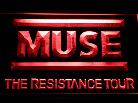 Image of Muse The Resistance Tour LED Neon Sign - Red - SafeSpecial