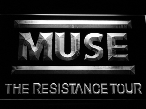 Muse The Resistance Tour LED Neon Sign - White - SafeSpecial