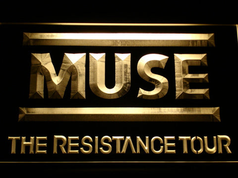Image of Muse The Resistance Tour LED Neon Sign - Yellow - SafeSpecial
