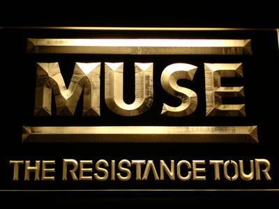 Muse The Resistance Tour LED Neon Sign - Yellow - SafeSpecial