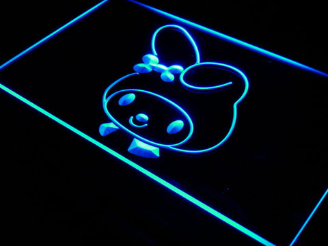 My Melody Head LED Neon Sign - Blue - SafeSpecial