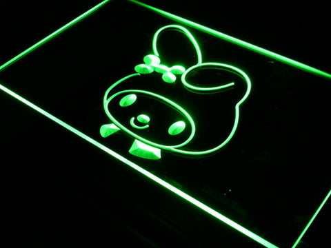 My Melody Head LED Neon Sign - Green - SafeSpecial