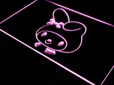 My Melody Head LED Neon Sign - Purple - SafeSpecial
