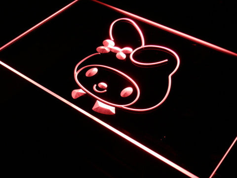 My Melody Head LED Neon Sign - Red - SafeSpecial