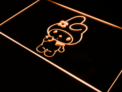 My Melody LED Neon Sign - Orange - SafeSpecial