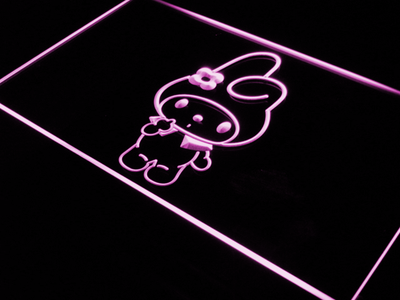 My Melody LED Neon Sign - Purple - SafeSpecial