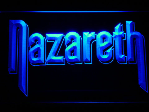Nazareth LED Neon Sign - Blue - SafeSpecial