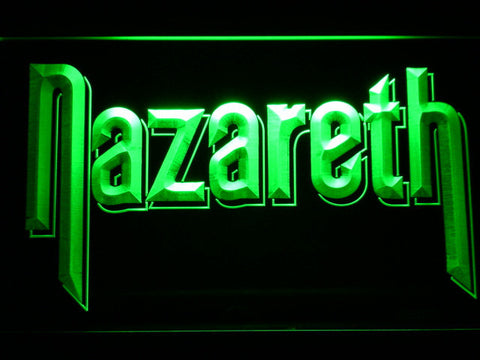 Nazareth LED Neon Sign - Green - SafeSpecial