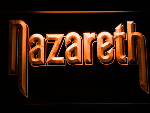 Nazareth LED Neon Sign - Orange - SafeSpecial