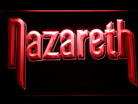Nazareth LED Neon Sign - Red - SafeSpecial