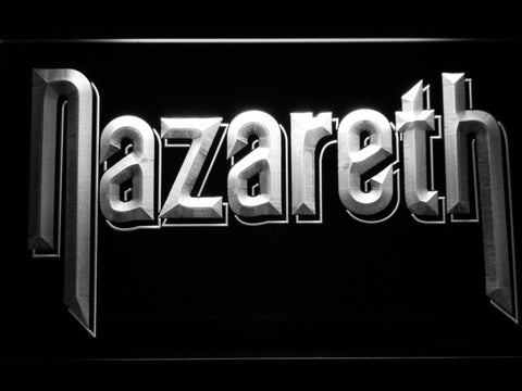 Nazareth LED Neon Sign - White - SafeSpecial