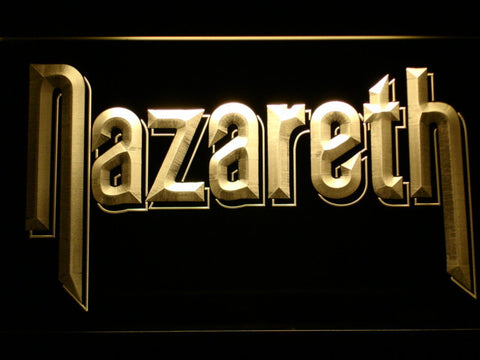 Nazareth LED Neon Sign - Yellow - SafeSpecial