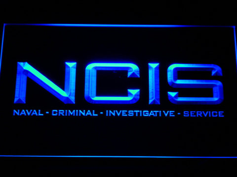 Image of NCIS LED Neon Sign - Blue - SafeSpecial